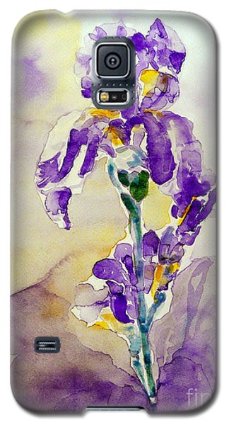 Galaxy S5 Case featuring the painting Iris 2 by Jasna Dragun