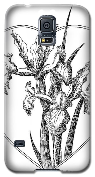 Iris Heart Drawing 3 Galaxy S5 Case