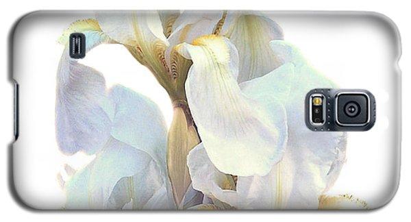 Galaxy S5 Case featuring the photograph Iris On White by Ken Frischkorn