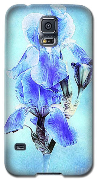 Iris Pair In Blue Galaxy S5 Case