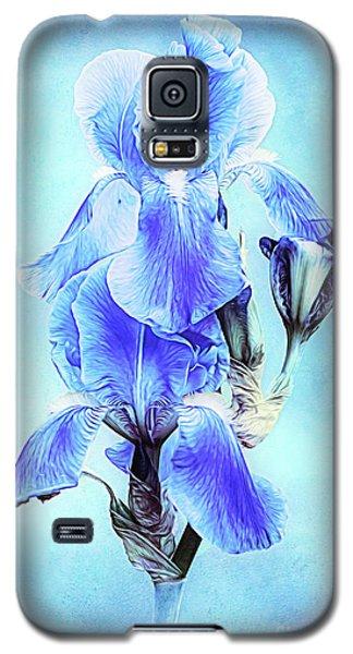 Iris Pair In Blue Galaxy S5 Case