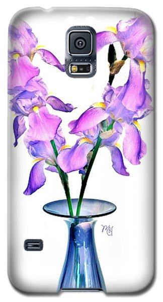 Galaxy S5 Case featuring the digital art Iris Still Life In A Vase by Marsha Heiken