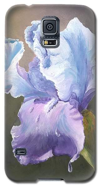 Galaxy S5 Case featuring the painting Iris Tears by Sherry Shipley