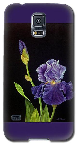 Iris With Purple Ruffles Galaxy S5 Case