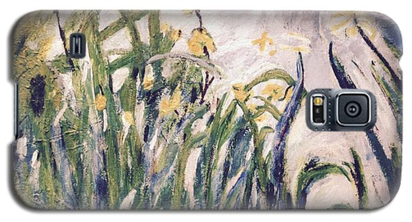 Galaxy S5 Case featuring the painting Irises Revisited by Cynthia Morgan