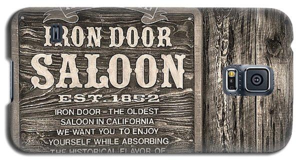 Iron Door Saloon 1852 Galaxy S5 Case by David Millenheft