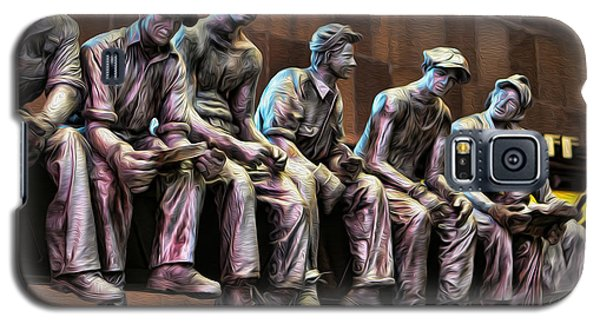 Ironworkers Having Lunch II Galaxy S5 Case by Lee Dos Santos