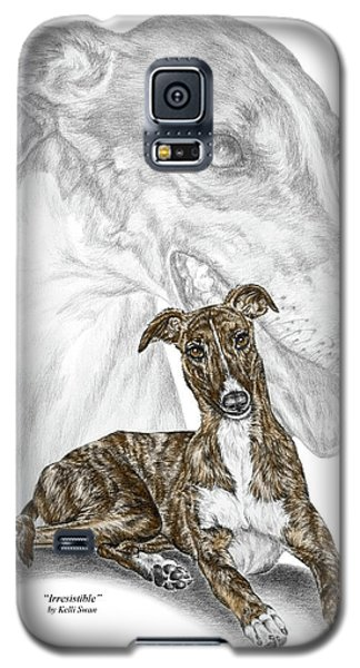 Galaxy S5 Case featuring the drawing Irresistible - Greyhound Dog Print Color Tinted by Kelli Swan