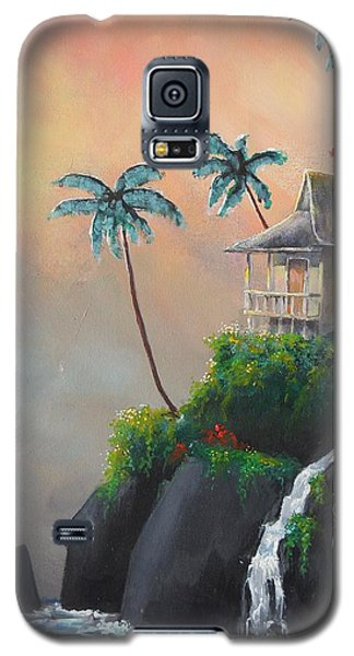 Galaxy S5 Case featuring the painting Island Getaway by Dan Whittemore