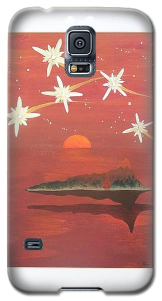 Galaxy S5 Case featuring the painting Island In The Sky With Diamonds by Ron Davidson