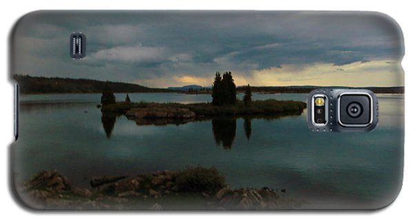 Galaxy S5 Case featuring the photograph Island In The Storm by Karen Shackles