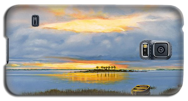 Galaxy S5 Case featuring the painting Island Sunset by Rick McKinney
