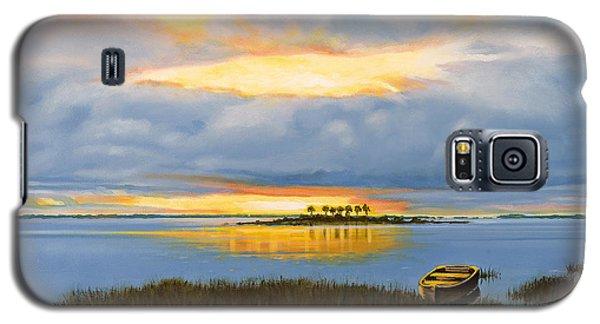 Island Sunset Galaxy S5 Case by Rick McKinney