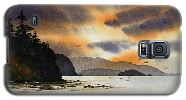 Galaxy S5 Case featuring the painting Islands Autumn Sky by James Williamson