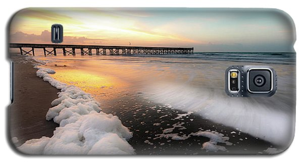 Isle Of Palms Pier Sunrise And Sea Foam Galaxy S5 Case