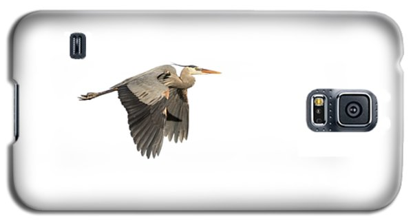 Galaxy S5 Case featuring the photograph Isolated Great Blue Heron 2015-5 by Thomas Young