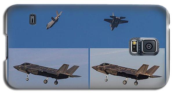 Galaxy S5 Case featuring the digital art Israeli Air Force First Two F-35i Adir by Amos Dor
