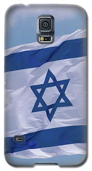 Israeli Flag In The Wind Galaxy S5 Case by Yoel Koskas