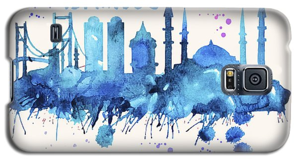 Istanbul Skyline Watercolor Poster - Cityscape Painting Artwork Galaxy S5 Case