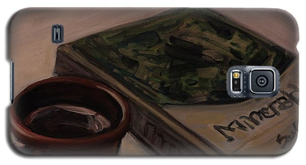 Galaxy S5 Case featuring the painting It Is Coffee Time by Olimpia - Hinamatsuri Barbu