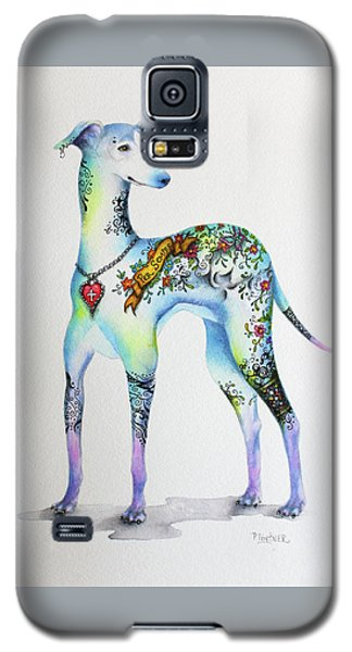 Italian Greyhound Tattoo Dog Galaxy S5 Case