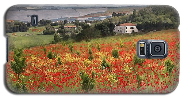 Italian Poppy Field Galaxy S5 Case