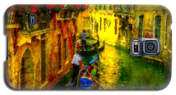 Galaxy S5 Case featuring the digital art Italian Red by Patricia Lintner