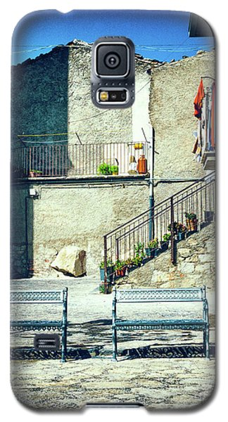 Galaxy S5 Case featuring the photograph Italian Square With Benches by Silvia Ganora