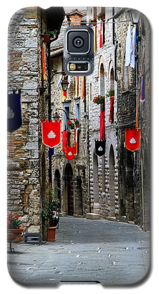 Italian Street Flags Galaxy S5 Case by Roger Mullenhour