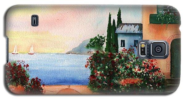 Italian Sunset Villa By The Sea Galaxy S5 Case by Sharon Mick