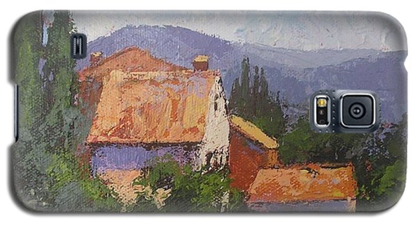 Galaxy S5 Case featuring the painting Italian Village by Chris Hobel