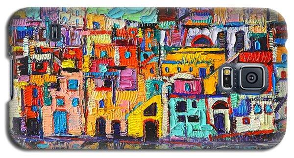 Italy Procida Island Marina Corricella Naples Bay Palette Knife Oil Painting By Ana Maria Edulescu Galaxy S5 Case