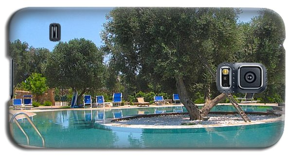 Italy Resort- Olive Tree In Pool Galaxy S5 Case