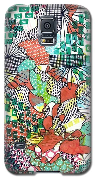 Galaxy S5 Case featuring the mixed media It's A Jungle Out There by Lisa Noneman