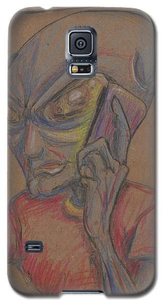 Galaxy S5 Case featuring the drawing It's Brown by Similar Alien