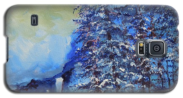 Galaxy S5 Case featuring the painting It's Cold Out by Dan Whittemore