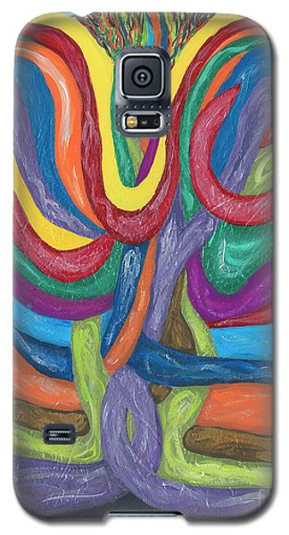 Galaxy S5 Case featuring the painting Its Complicated by Ania M Milo