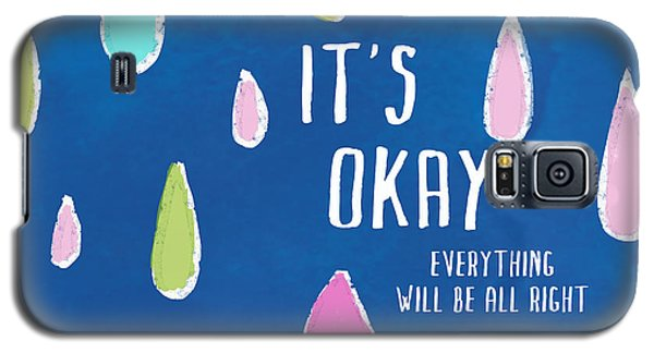 Galaxy S5 Case featuring the painting It's Okay by Lisa Weedn