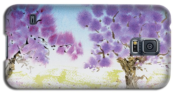 Jacaranda Trees Blooming In Buenos Aires, Argentina Galaxy S5 Case