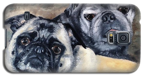 Galaxy S5 Case featuring the painting Jack And Bella by Diane Daigle