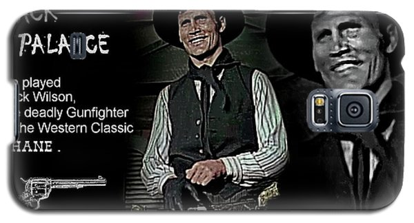 Galaxy S5 Case featuring the digital art Jack  Palance by Hartmut Jager