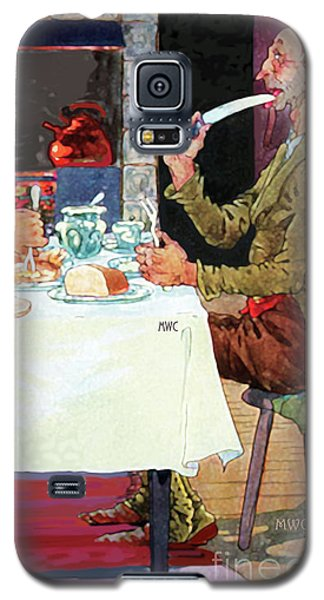 Jack Sprat Vintage Mother Goose Nursery Rhyme Galaxy S5 Case by Marian Cates