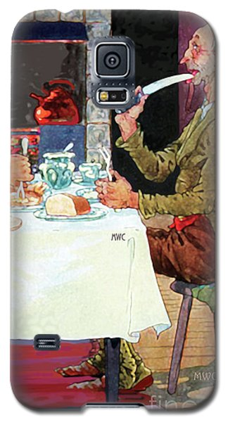 Jack Sprat Vintage Mother Goose Nursery Rhyme Galaxy S5 Case by Marian Cates