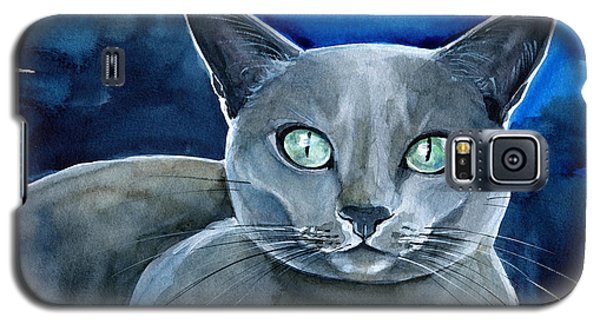 Jackpot - Russian Blue Cat Painting Galaxy S5 Case