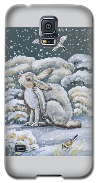 Jackrabbit And Horned Larks Galaxy S5 Case