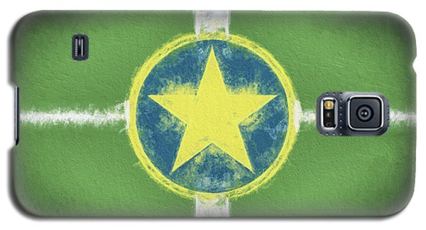 Galaxy S5 Case featuring the digital art Jackson Mississippi Flag by JC Findley