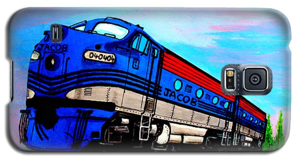 Galaxy S5 Case featuring the painting Jacob The Train by Pjohn Artman