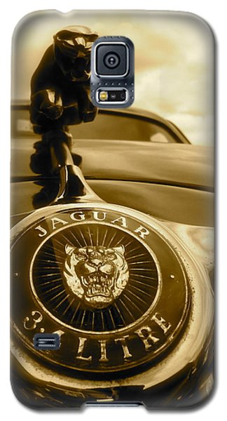 Galaxy S5 Case featuring the photograph Jaguar Car Mascot by John Colley