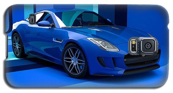 Jaguar F-type - Blue Retro Galaxy S5 Case