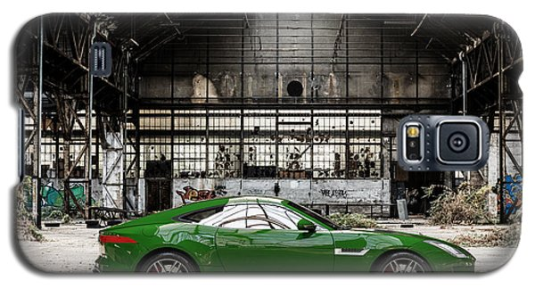 Jaguar F-type - British Racing Green - Side View Galaxy S5 Case